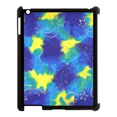 Mulberry Paper Gift Moon Star Apple Ipad 3/4 Case (black) by Mariart