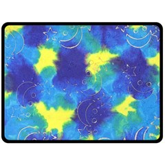 Mulberry Paper Gift Moon Star Double Sided Fleece Blanket (large)  by Mariart