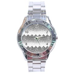 Original Plaid Chevron Wave Stainless Steel Analogue Watch by Mariart