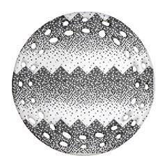 Original Plaid Chevron Wave Round Filigree Ornament (two Sides) by Mariart
