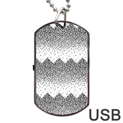 Original Plaid Chevron Wave Dog Tag Usb Flash (one Side) by Mariart