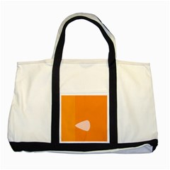 Screen Shot Circle Animations Orange White Line Color Two Tone Tote Bag by Mariart