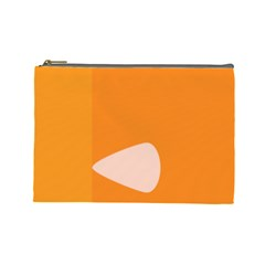 Screen Shot Circle Animations Orange White Line Color Cosmetic Bag (large)  by Mariart