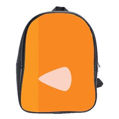 Screen Shot Circle Animations Orange White Line Color School Bags(large)  by Mariart