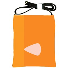 Screen Shot Circle Animations Orange White Line Color Shoulder Sling Bags by Mariart