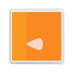 Screen Shot Circle Animations Orange White Line Color Memory Card Reader (square)  by Mariart