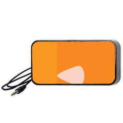 Screen Shot Circle Animations Orange White Line Color Portable Speaker (black) by Mariart
