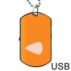 Screen Shot Circle Animations Orange White Line Color Dog Tag Usb Flash (one Side) by Mariart