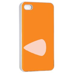 Screen Shot Circle Animations Orange White Line Color Apple Iphone 4/4s Seamless Case (white) by Mariart