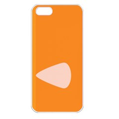 Screen Shot Circle Animations Orange White Line Color Apple Iphone 5 Seamless Case (white) by Mariart