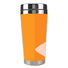 Screen Shot Circle Animations Orange White Line Color Stainless Steel Travel Tumblers by Mariart