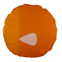 Screen Shot Circle Animations Orange White Line Color Large 18  Premium Flano Round Cushions by Mariart