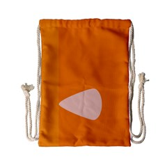 Screen Shot Circle Animations Orange White Line Color Drawstring Bag (small) by Mariart