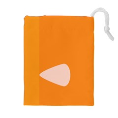 Screen Shot Circle Animations Orange White Line Color Drawstring Pouches (extra Large) by Mariart