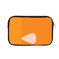 Screen Shot Circle Animations Orange White Line Color Apple Macbook Pro 13  Zipper Case by Mariart