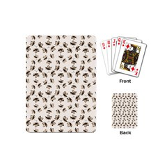 Autumn Leaves Motif Pattern Playing Cards (mini)  by dflcprints