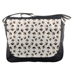 Autumn Leaves Motif Pattern Messenger Bags by dflcprints