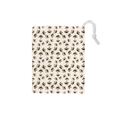 Autumn Leaves Motif Pattern Drawstring Pouches (small)  by dflcprints