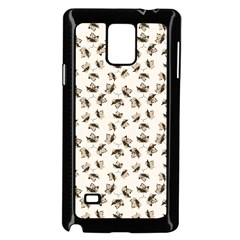 Autumn Leaves Motif Pattern Samsung Galaxy Note 4 Case (black) by dflcprints