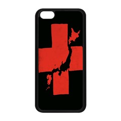 Sign Health Red Black Apple Iphone 5c Seamless Case (black) by Mariart