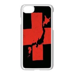 Sign Health Red Black Apple Iphone 7 Seamless Case (white) by Mariart