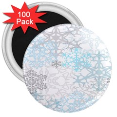 Sign Flower Floral Transparent 3  Magnets (100 Pack) by Mariart