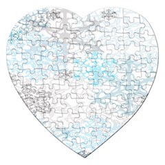 Sign Flower Floral Transparent Jigsaw Puzzle (heart) by Mariart