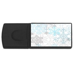 Sign Flower Floral Transparent Usb Flash Drive Rectangular (4 Gb) by Mariart