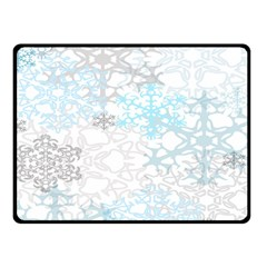 Sign Flower Floral Transparent Double Sided Fleece Blanket (small)  by Mariart