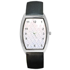 Seamless Horizontal Modern Stylish Repeating Geometric Shapes Rose Quartz Barrel Style Metal Watch by Mariart
