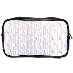 Seamless Horizontal Modern Stylish Repeating Geometric Shapes Rose Quartz Toiletries Bags 2 Side by Mariart