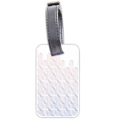 Seamless Horizontal Modern Stylish Repeating Geometric Shapes Rose Quartz Luggage Tags (two Sides) by Mariart