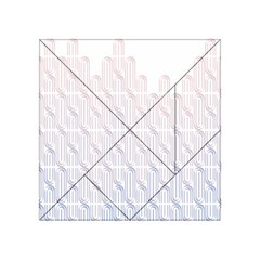 Seamless Horizontal Modern Stylish Repeating Geometric Shapes Rose Quartz Acrylic Tangram Puzzle (4  X 4 ) by Mariart