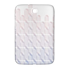 Seamless Horizontal Modern Stylish Repeating Geometric Shapes Rose Quartz Samsung Galaxy Note 8 0 N5100 Hardshell Case  by Mariart