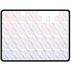 Seamless Horizontal Modern Stylish Repeating Geometric Shapes Rose Quartz Double Sided Fleece Blanket (large)  by Mariart