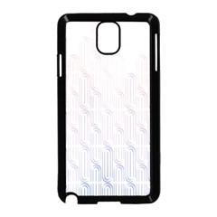 Seamless Horizontal Modern Stylish Repeating Geometric Shapes Rose Quartz Samsung Galaxy Note 3 Neo Hardshell Case (black)