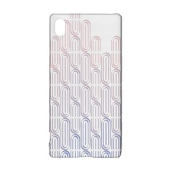 Seamless Horizontal Modern Stylish Repeating Geometric Shapes Rose Quartz Sony Xperia Z3+ by Mariart
