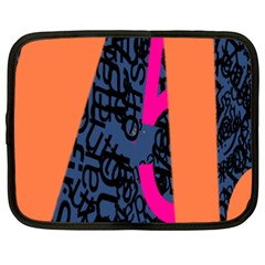 Recursive Reality Number Netbook Case (xxl)  by Mariart