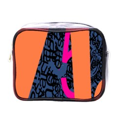 Recursive Reality Number Mini Toiletries Bags by Mariart