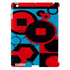 Stancilm Circle Round Plaid Triangle Red Blue Black Apple Ipad 3/4 Hardshell Case (compatible With Smart Cover) by Mariart