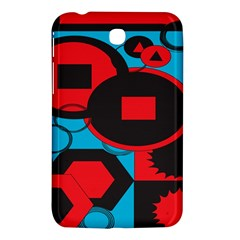 Stancilm Circle Round Plaid Triangle Red Blue Black Samsung Galaxy Tab 3 (7 ) P3200 Hardshell Case  by Mariart