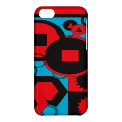 Stancilm Circle Round Plaid Triangle Red Blue Black Apple Iphone 5c Hardshell Case by Mariart