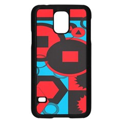 Stancilm Circle Round Plaid Triangle Red Blue Black Samsung Galaxy S5 Case (black) by Mariart
