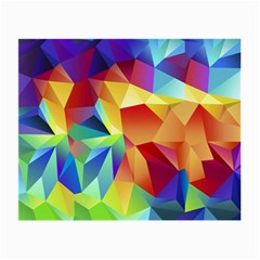 Triangles Space Rainbow Color Small Glasses Cloth by Mariart