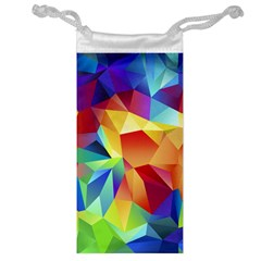 Triangles Space Rainbow Color Jewelry Bag by Mariart