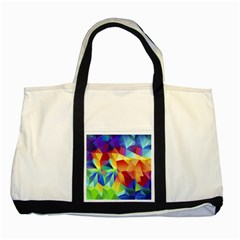 Triangles Space Rainbow Color Two Tone Tote Bag by Mariart