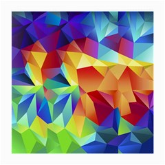 Triangles Space Rainbow Color Medium Glasses Cloth by Mariart