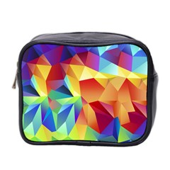 Triangles Space Rainbow Color Mini Toiletries Bag 2 Side by Mariart