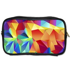 Triangles Space Rainbow Color Toiletries Bags by Mariart