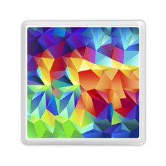 Triangles Space Rainbow Color Memory Card Reader (square)  by Mariart